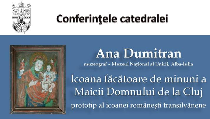 Conferințele Catedralei – întâlnire cu Ana Dumitran