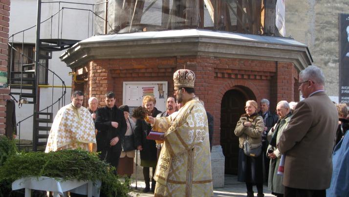 Sfintirea ramurilor in Duminica Floriilor la Catedrala Sfântul Vasile cel Mare
