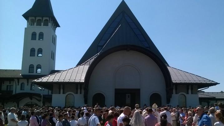 Sfințirea Bisericii Mănăstirii Carmelitane de la Cioflinceni