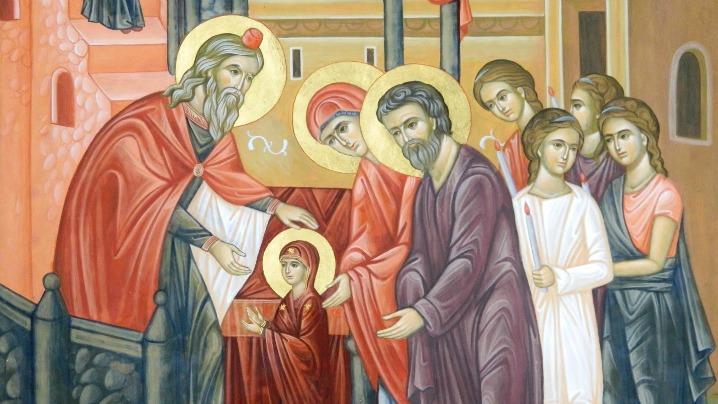 La sărbătoarea Întrării în Biserică a Maicii Domnului