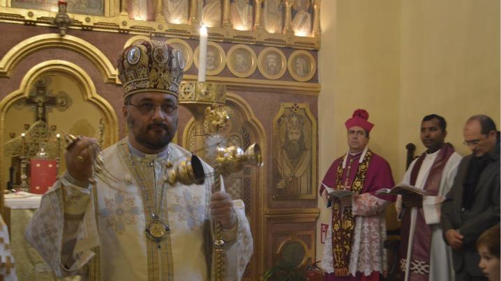 """Vizita Nunțiului apostolic  la Catedrala greco-catolică """"Sfântul Vasile cel Mare"""" din București"""