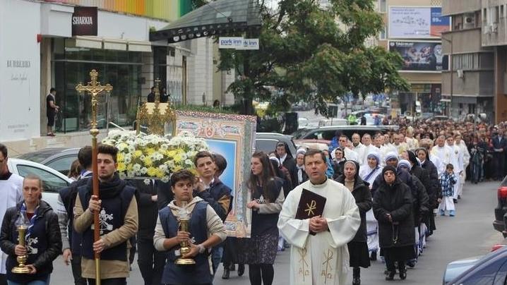 Duminică, 22 octombrie 2017, are loc procesiunea cu relicva Sfântului Papă Ioan Paul al II-lea pe străzile capitalei.