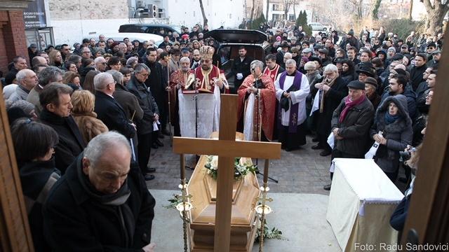 FOTO: Momente de la înmormântarea istoricului Neagu Djuvara