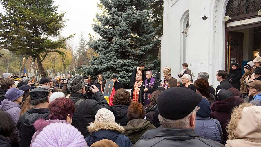 Comemorare la mormântul Cardinalului greco-catolic Iuliu Hossu