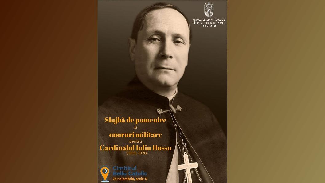 Slujbă de pomenire și onoruri militare pentru Cardinalul Iuliu Hossu