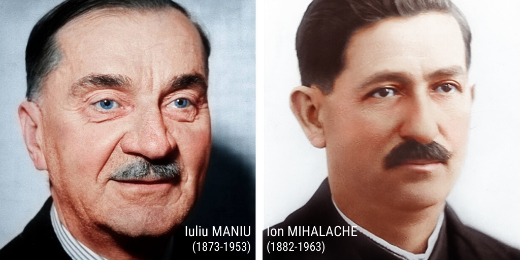 """Iuliu Maniu, Ion Mihalache. """"Să ne străduim să păstrăm legătura cu Dumnezeu, cu adevărul, cu cinstea, cu omenia, cu respectul pentru viață și libertate pe care le-au avut acești oameni"""""""