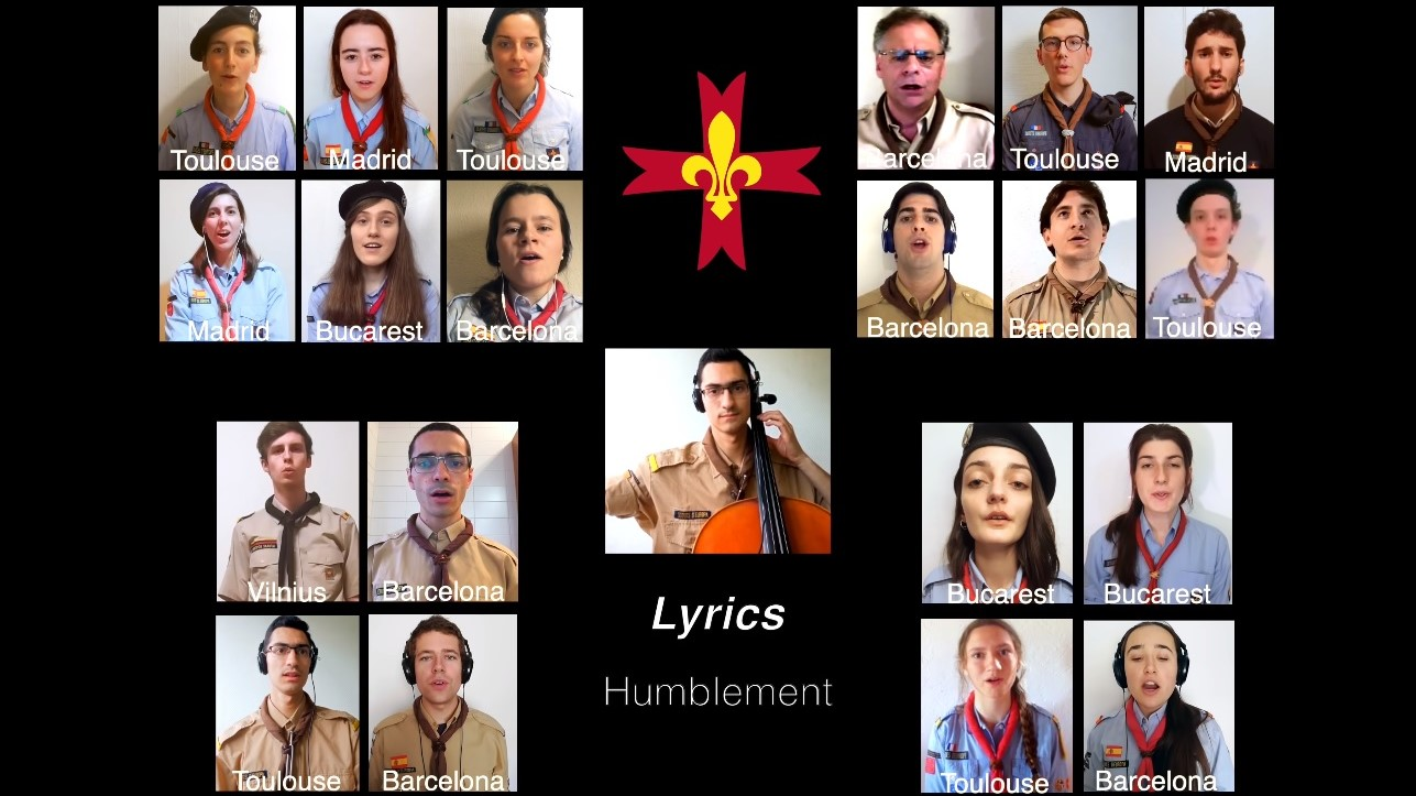 Cu umilință, cântând împreună. Humblement