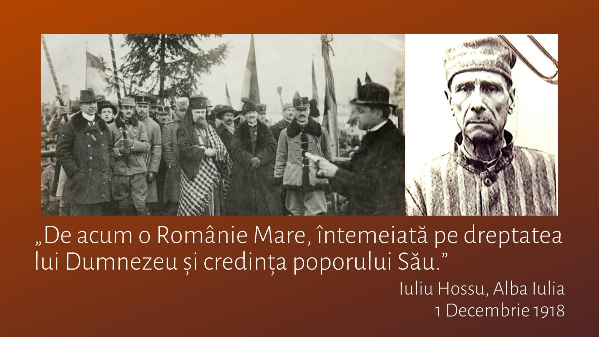 """Iuliu Hossu: """"Dreptate și adevăr, la temelia României întregite"""""""